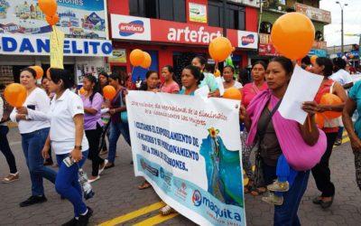 Organizations participate in anti-violence events against women